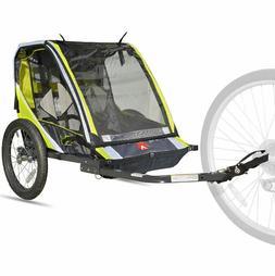 Bike Trailer For Kids Pull Behind 2 Seater Double Hitch Atta