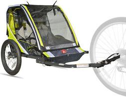 Bike Trailer For Kids Pull Cart 2 Person Safe Folding Transp