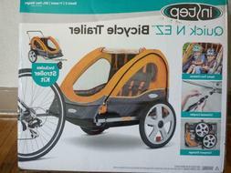 Bike Trailer for Kids Stroller 2-in-1 Double Twin Seat Baby