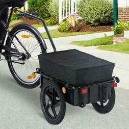 Bike Trolley Cart Cargo Trailer Handle Rain Cover Foldabe 70