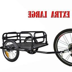 Black Wanderer Bicycle Bike Cargo Trailer Utility Luggage Ca