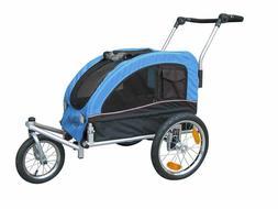 Booyah Medium Dog Stroller & Pet Bike Trailer with Suspensio