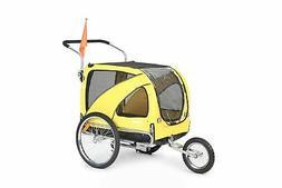 Brand New Sepnine Pet Dog Bike Trailer, Yellow