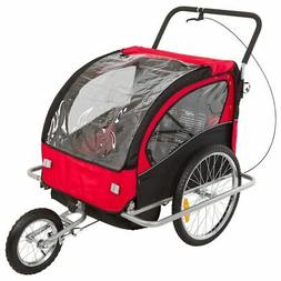 Apex Rage Powersports BT-502 Double Kids Bike Trailer & Jogg