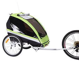 Sepnine BT-509 Baby/Toddler Bike Bicycle Trailer, Green