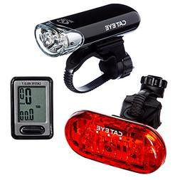 CAT EYE - Go Kit Wired with HL-EL135 Headlight, Velo 7 Cycle