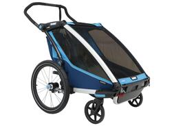 Thule Chariot Cross Bike Trailer and Stroller 2 Child Blue T
