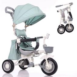 Children's Tricycle 1-3-7-year-old Baby Trolley Folding Baby