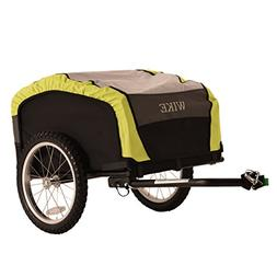 WIKE City Cargo Bicycle Trailer - Black/Lime