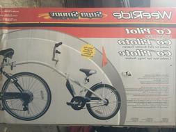 WeeRide Co-Pilot Bike Trailer White New Damaged Box