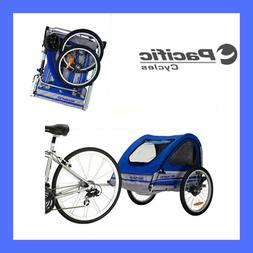 Cycling Trailblazer Double Bicycle Trailer Blue/Gray Sports