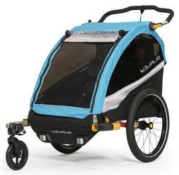 Burley D'Lite X Kids Bike Bicycle Trailer Double Stroller Aq
