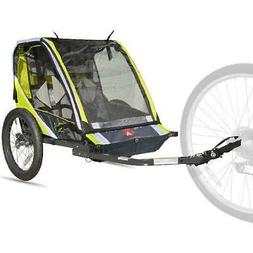 2-Child Bike Trailer Lightweight Steel Oversized Front 26lb