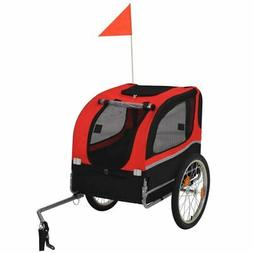 vidaXL Dog Bike Trailer Pet Carrier Wagon Pushchair Bicycle