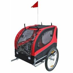 Dog Cat Bike Bicycle Trailer Red Pet Carrier Cycling Trailer