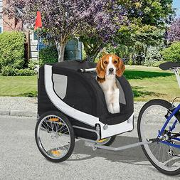 Aosom Dog Easy Walk Carrier Pet Dog Bike Trailer Folding Bla