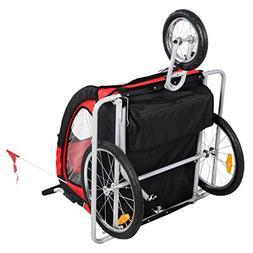 Heavens Tvcz Double Infant Child Baby Bike Trailer Stroller