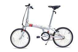 Allen Sports Downtown Aluminum 1 Speed Folding Bicycle, Cool