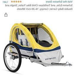 Schwinn Echo,Two Seat Bike Trailer - Yellow