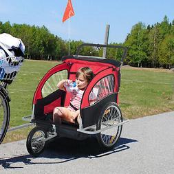 elite double bike trailer stroller
