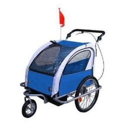 Aosom Elite Ii 3-In-1 Double Child Baby Bike Trailer And Str