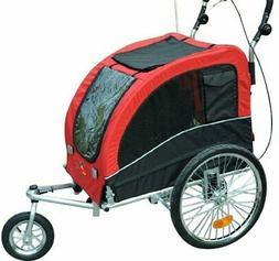 Elite II Pet Dog Bike Bicycle Trailer Stroller Jogger w/ Sus