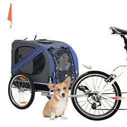 Aosom Elite Pet Dog Bike Trailer Folding Bicycle Trailer Str