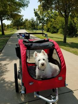 Aosom EliteII Pet Dog Bicycle Trailer Stroller Jogger w/Susp