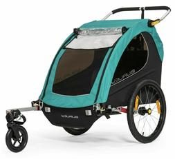 Burley Encore X Kids Bike Bicycle Trailer Double Stroller Tu