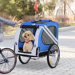 Fold Up Pet Bicycle Cargo Trailer for Dogs and Cats Steel Fr