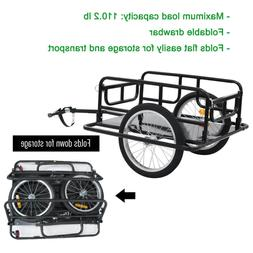Foldable Bicycle Bike Cargo Trailer Luggage Cart Carrier Ste