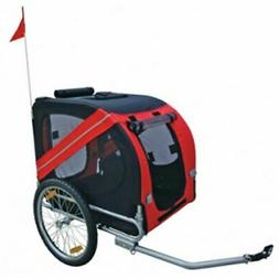 vidaXL Folding Pet Cycling Bicycle Trailer Red Dog Cat Bike