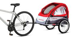 Schwinn Foldable Singe Bike Trailer - Baby Stroller, Easy In