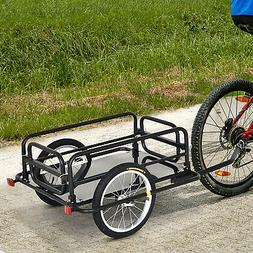 Folding Bicycle Cargo Trailer Utility Bike Cart Carrier Gard