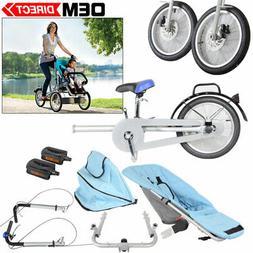 Folding Baby Bike Stroller 3 Wheel One Seat Tricycle Mom Bic