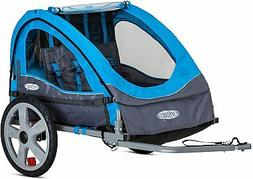 Folding Bike Trailer Kid Carrier Bicycle Double Twin Toddler