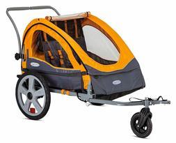 In Step Sierra Double Bicycle Trailer-Orange