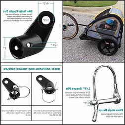 instep bicycle bike child trailer coupler angled