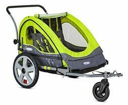 InStep Quick N Ez Double Trailer Green Bike Trailer, New