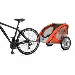 InStep Robin 2 Seater Bike Trailer Orange Outdoor Kids Famil