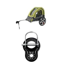 InStep Sync Single Bicycle Trailer, Green/Gray and Trailer C