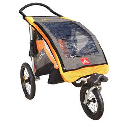 Allen Sports JTX-1 Trailer/Swivel Wheel Jogger, Orange