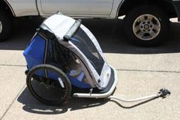 kidarooz 535 trailblazer double bicycle trailer w