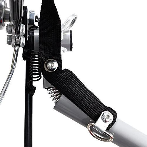 Giantex Trailer Double Bike Jogger Outdoor Resistant Deluxe Seat for Bike Trailer Safety Brake