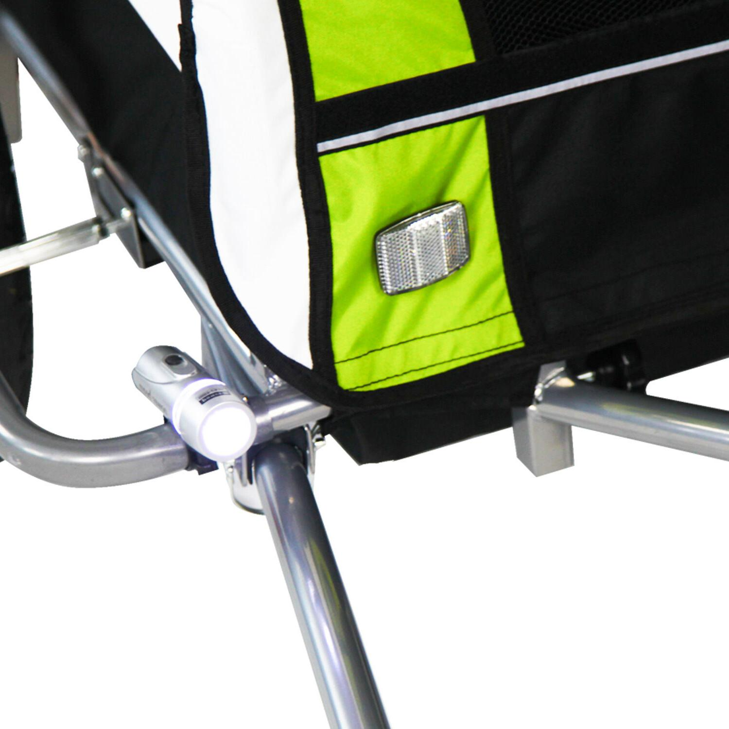 2 Pet Carrier Bike Cycling Trailer Green