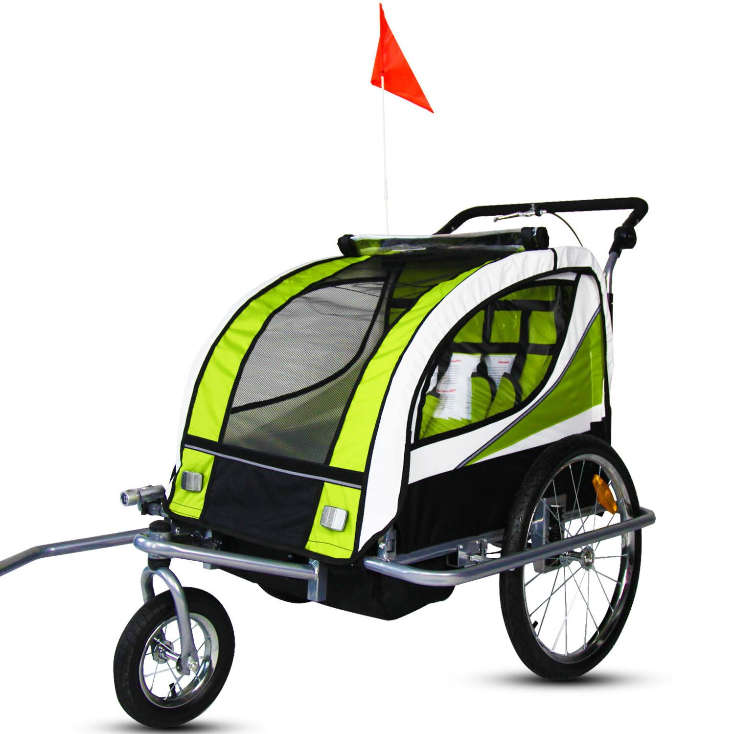 2 1 Cycling Stroller Green
