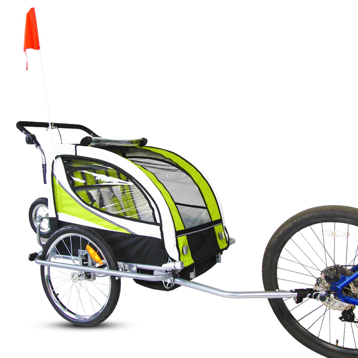 2 in 1 Pet Carrier Dog Bike Bicycle Cycling Trailer Jogging