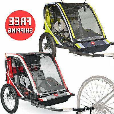2 child bike outdoor trailer kids stroller