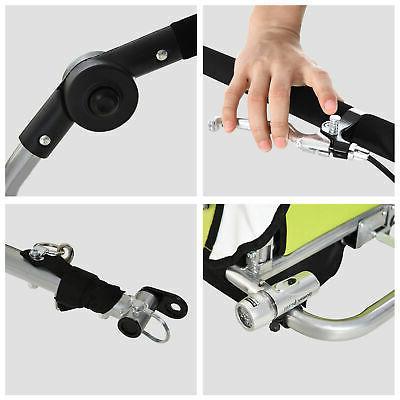 2 2-Seat Child Trailer Stroller w/ Hand Brake