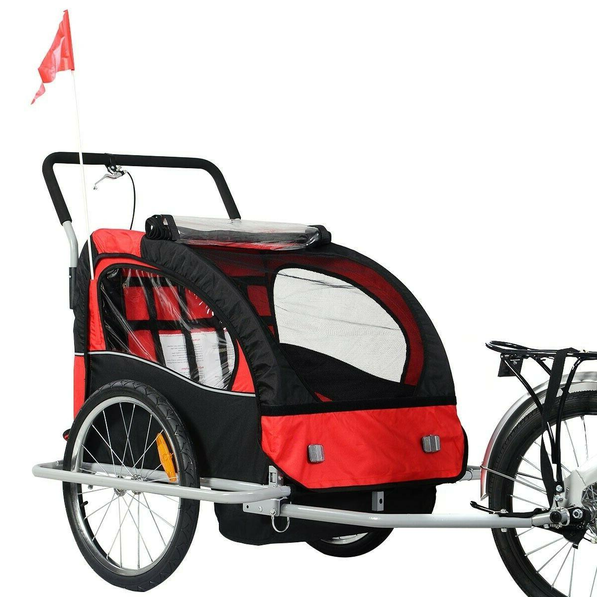 2 in 1 New Bicycle Child Baby Jogger Stroller